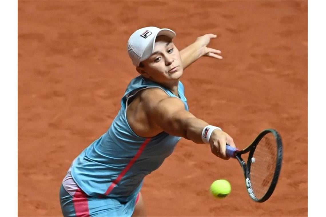 Ashleigh Barty in Aktion. Foto: Marijan Murat/dpa