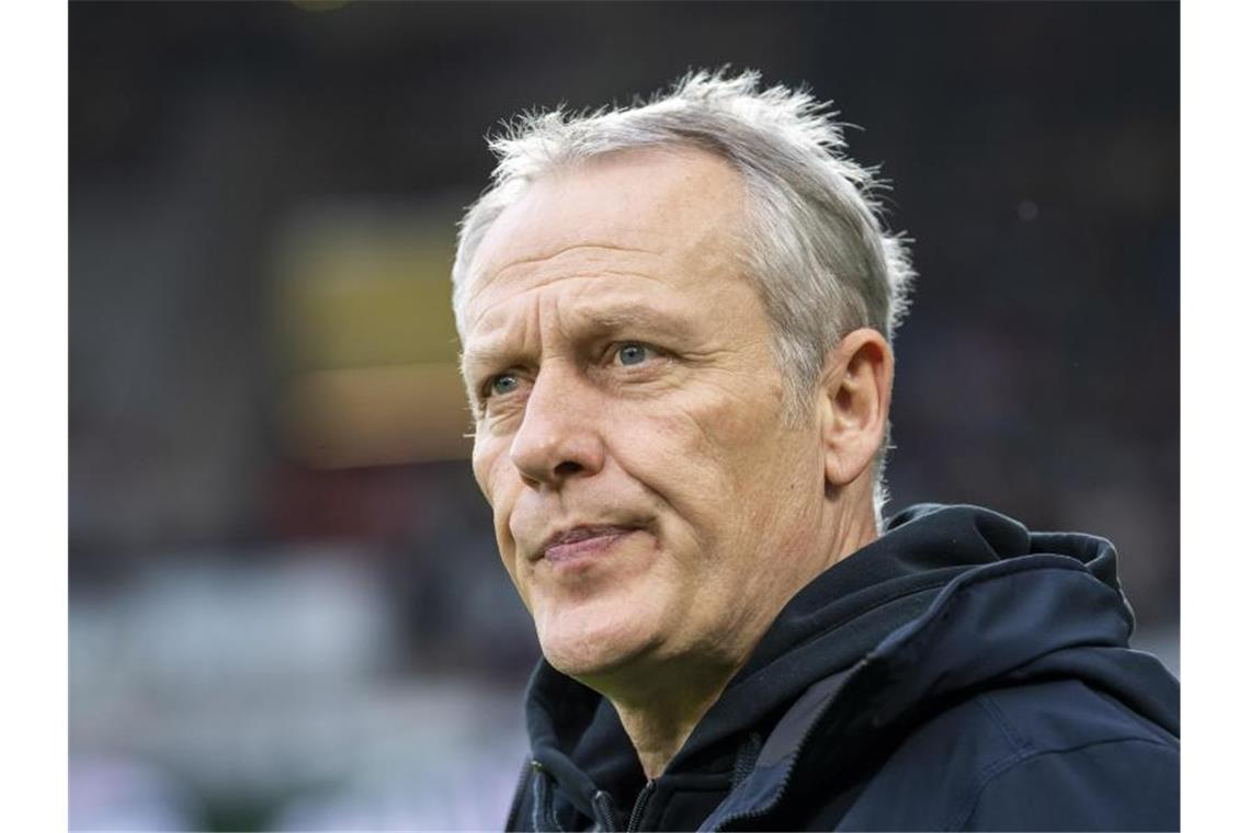 Freiburgs Trainer Christian Streich. Foto: David Inderlied/dpa/Archivbild
