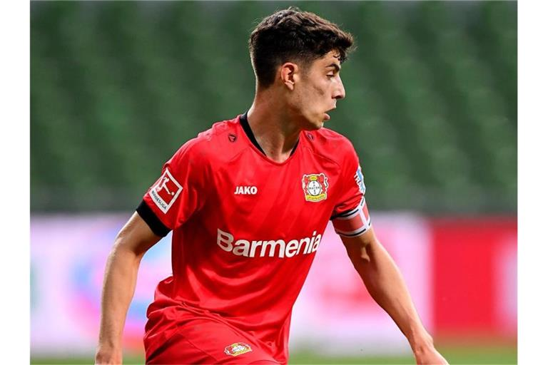 Kai Havertz läuft mit dem Ball. Foto: Stuart Franklin/Getty-Pool/dpa/Archivbild