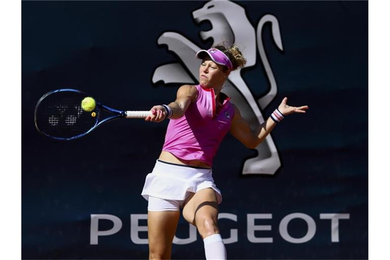 Laura Siegemund aus Deutschland in Aktion. Foto: -/Palermo Ladies Open/AP/dpa