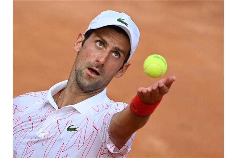 Novak Djokovic hat beim ATP-Turnier in Rom das Finale erreicht. Foto: Alfredo Falcone/LaPresse via ZUMA Press/dpa