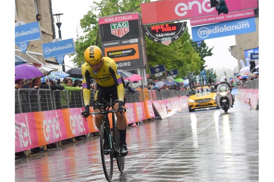 Roglic dominiert den Giro - Sieg im zweiten Zeitfahren