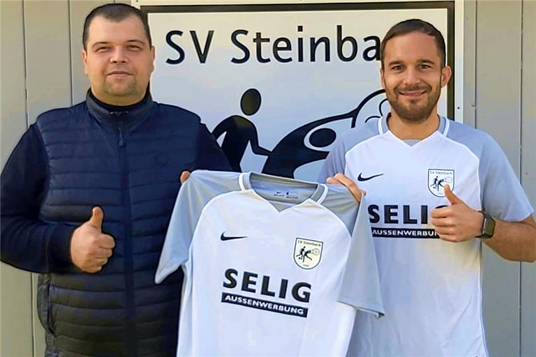 Werden in der neuen Saison bei den Steinbacher Fußballern ein Duo bilden: Der neue Trainer Darko Milosevic (links) und der spielende Co-Trainer Marcel Goncalves. Foto: privat